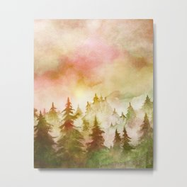 Into The Forest X Metal Print
