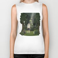 princess mononoke Biker Tanks featuring Princess Mononoke by ketizoloto
