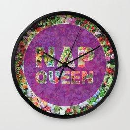 Nap Queen in Purple Wall Clock