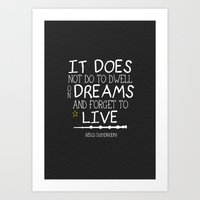 dumbledore Art Prints featuring Dumbleism - Dumbledore Quote 1 by Teacuppiranha
