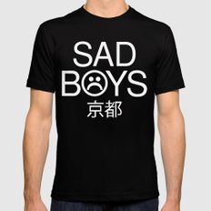 saddddd MEDIUM Mens Fitted Tee Black