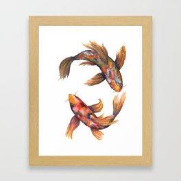 A Pair of Koi Carp Framed Art Print