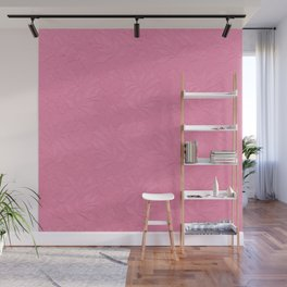 Girly trendy fuschia pink elegant floral french lace Wall Mural