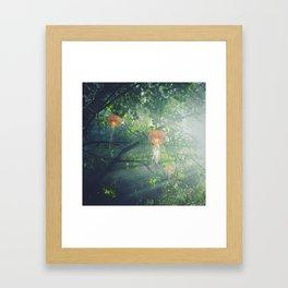 flying jellyfish Framed Art Print