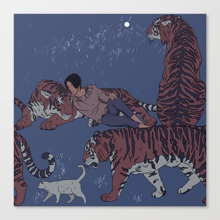 Tiger Pattern Leinwanddruck