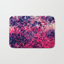 Magenta Indigo Blue Pixels Bath Mat