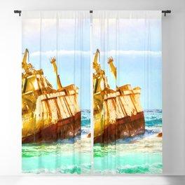 shipwreck aqrestd Blackout Curtain