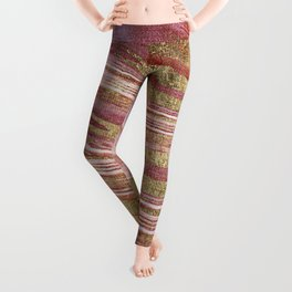 Abstract painting pink modern Leggings