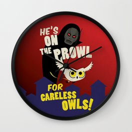 Careless Owls Wall Clock