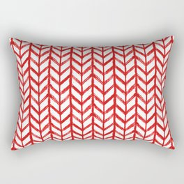 Shibori Chevrons - Peppermint Rectangular Pillow