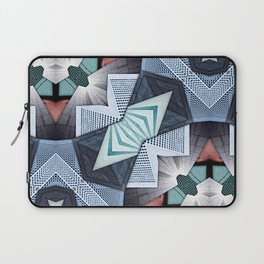 Abstract Structural Collage Laptop Sleeve