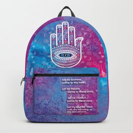 Hamsa Prayer Backpack