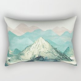 Mountains Landscape Watercolor Rectangular Pillow