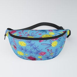 Bright Florals - Pretty Watercolour Pattern Fanny Pack