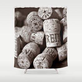 Cork of Champagne - Brown Duplex Shower Curtain