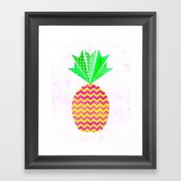 Chevron Pineapple Framed Art Print