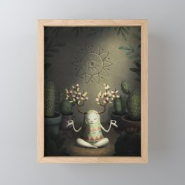 Cactus garden Framed Mini Art Print