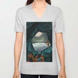 Space Spelunking Unisex V-Neck