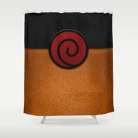 naruto Shower Curtains featuring NARUTO by September 9