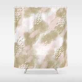 Custom Watercolor Multicolor Geometric Pattern Shower Curtain