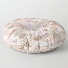 MERMAID SHELLS - CORAL ROSEGOLD Floor Pillow