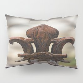 Fluer De Lis - Iron Fluer De Lis with Raindrops in New Orleans French Quarter Pillow Sham