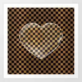 King Midas Checkerboard Art Print