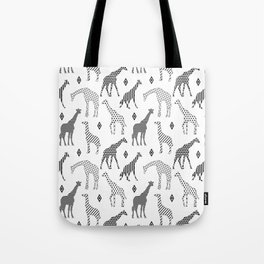 Geometric Giraffes Tote Bag