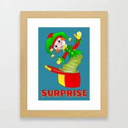SURPRISE Jack in the Box Framed Art Print
