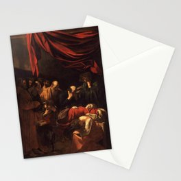 Death of the Virgin by Caravaggio (1606) Stationery Cards