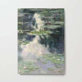 Pond with Water Lilies by Claude Monet, 1907 Metal Print