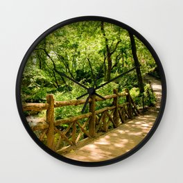 A Walk into the Forest (aka NYC Central Park) Wall Clock