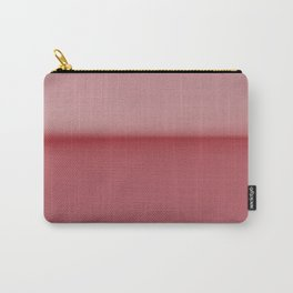 Soft Blush Pink Two Toned Abstract Carry-All Pouch