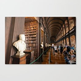 The Long Room of Trinity College Library in Dublin, Ireland Canvas Print