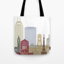 Indianapolis skyline poster Tote Bag