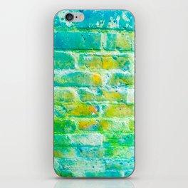 Acid brickwork iPhone Skin