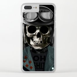Skull graphic design Clear iPhone Case