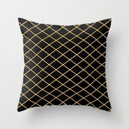Diamond Lines - Gold Throw Pillow