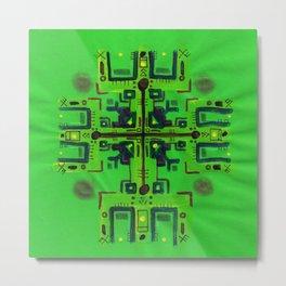 Green Protector Metal Print