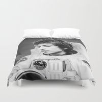 bob dylan Duvet Covers featuring bob dylan spacer by Maioriz Home