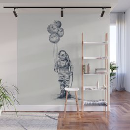 Balloon Fish - monochrome option Wall Mural