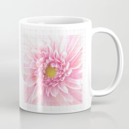 EUCLID pretty bright petal pink pixelated flower with graph detail Coffee Mug
