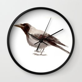 Hooded Crow Wall Clock