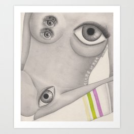 Porn Brain Art Print
