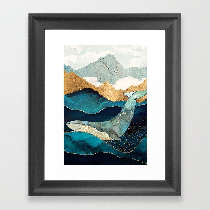 Blue Whale Gerahmter Kunstdruck