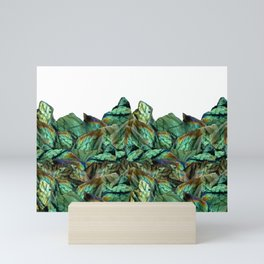 Labradorite Landscape - Gemstone Scene - Iridescent Stones Mini Art Print
