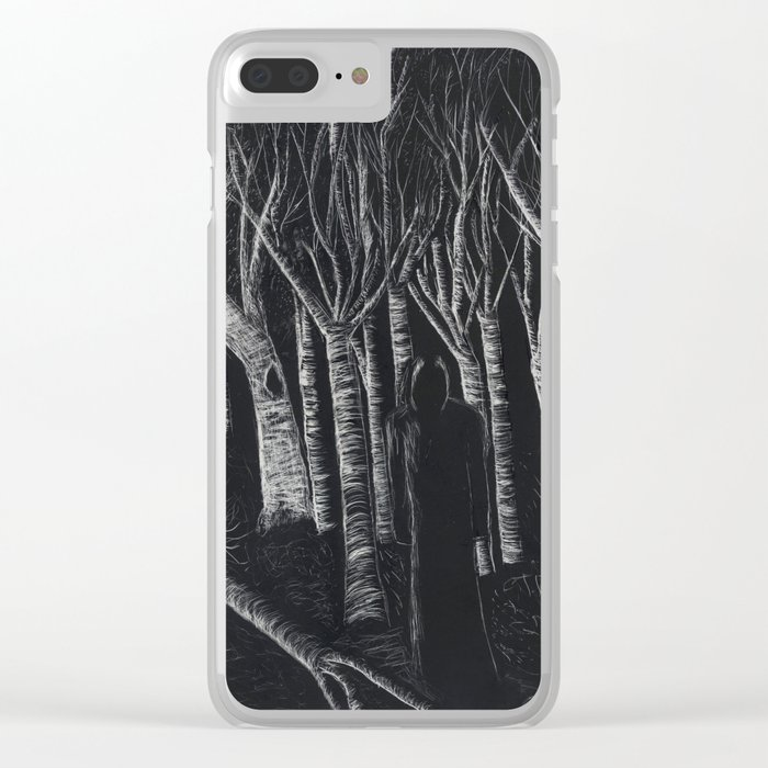 Forest Nightmare Clear iPhone Case