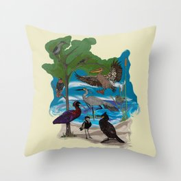 Some Birds Throw Pillow