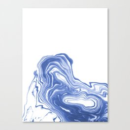 Tomo - wave water ocean sea abstract spilled ink watercolor painting marble paper marbling Canvas Print