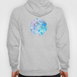 Watercolor and Silver Feathers on Watercolor Background Hoody